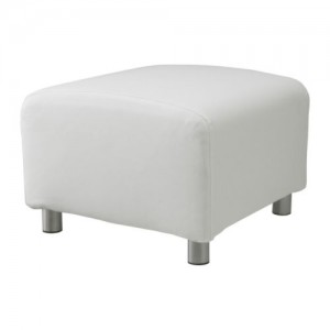 White Cotton Cover Pouffe