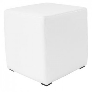 White Leather Cube